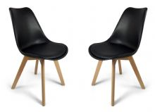 Pair of Black Toulouse Tulip Dining Chairs 1/2 price Deal